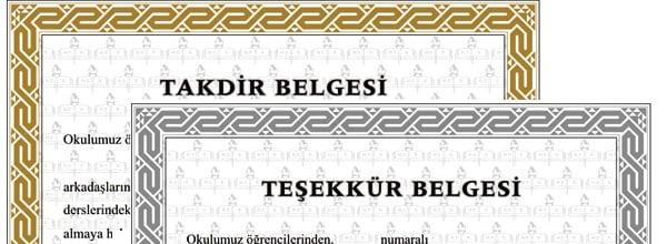 TAKDİR-TEŞEKKÜR HESABI
